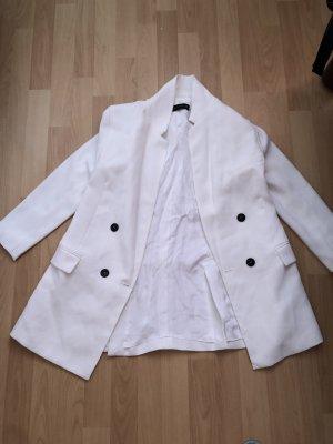 Weiße Jacke in Blazer Optik.