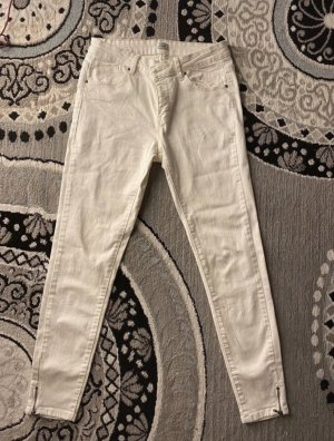 Pimkie Jeans taille basse blanc
