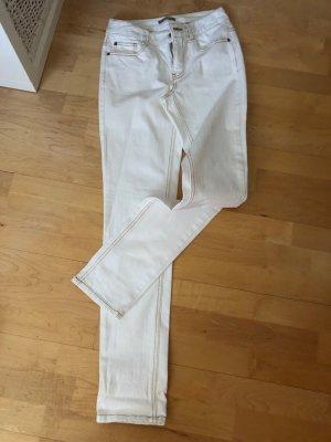 3 Suisses Pantalone a sigaretta bianco