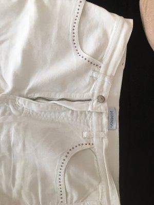 Kimmy Pantalón de cinco bolsillos blanco puro Algodón