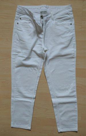 weiße Jeans 7/8  ohne schnick-schnack
