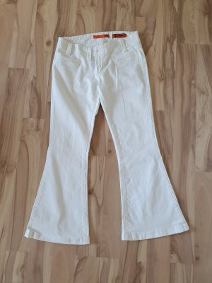 Object Denim Flares white