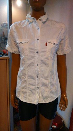 weiße Jeans Bluse Gr. M
