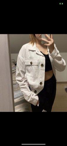 Weiße Jeans 'Bomberjacke' in Größe 40