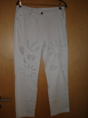 Alba Moda 7/8 Length Jeans white cotton