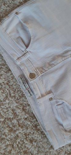 Stradivarius Five-Pocket Trousers white