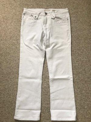 Weiße Jeans Gr. S mit Steinen
