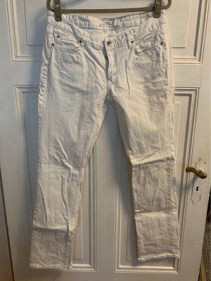H&M L.O.G.G. Jeansy o kroju boot cut biały