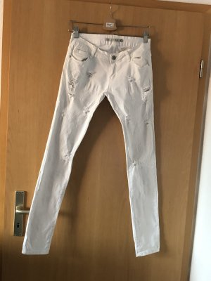 Five-Pocket Trousers white
