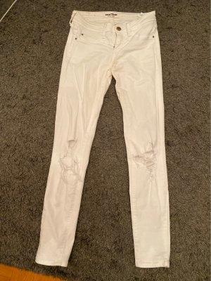 Tally Weijl Jeans vita bassa bianco