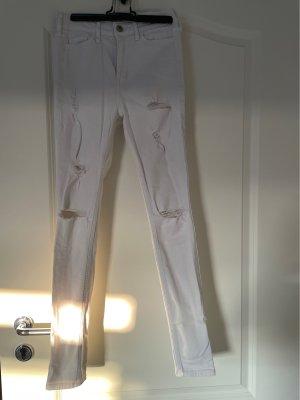 Hollister High Waist Jeans white