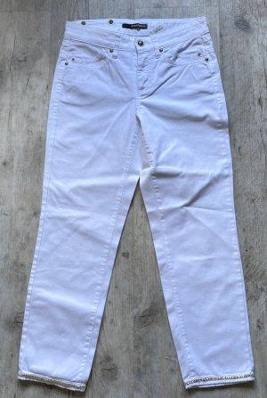 weiße Jeans mit Straß
