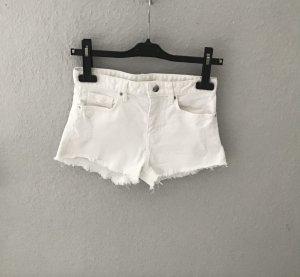 Weiße Jeans Short, H&M, Größe 32