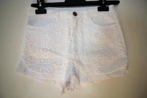 Weiße Jeans-Shorts