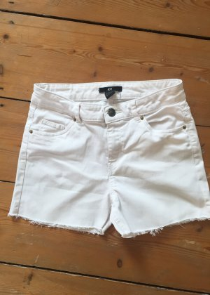 Weiße Jeans Shorts / Hotpants