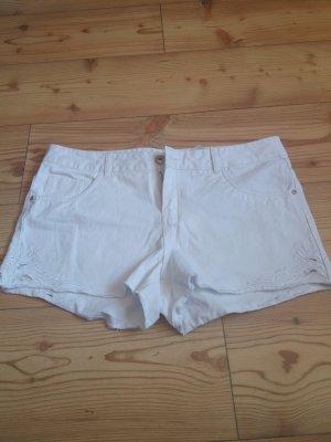 weiße Jeans Shorts von Stitch&Soul