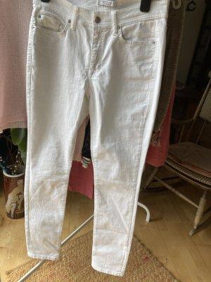 Cambio Drainpipe Trousers white