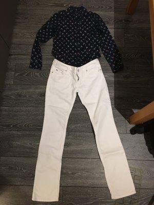 Tommy Hilfiger Denim Five-Pocket Trousers white cotton