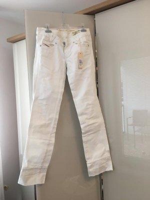 Diesel Jeans vita bassa bianco