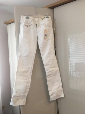 Diesel Low Rise Jeans white