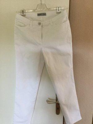 Michèle Jeans stretch blanc coton