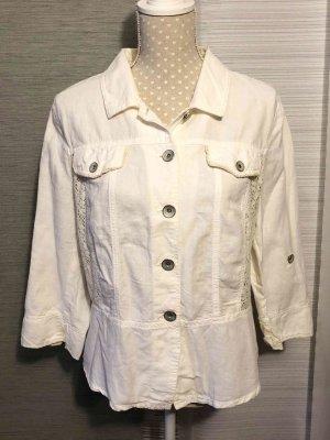 Liberty Blusa vaquera blanco-blanco puro tejido mezclado