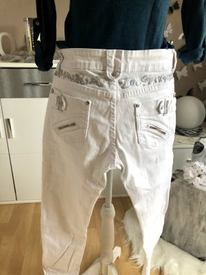 Low-Rise Trousers white-silver-colored