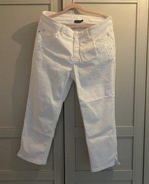 Bonita Pantalone boyfriend bianco Cotone