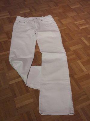 Street One Jeansy z prostymi nogawkami biały Bawełna