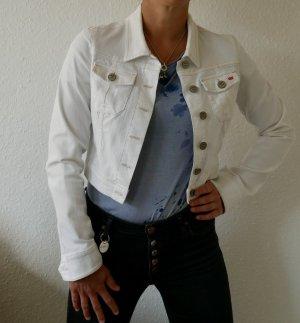 weiße Jeansjacke