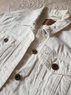 Amisu Denim Jacket white-natural white