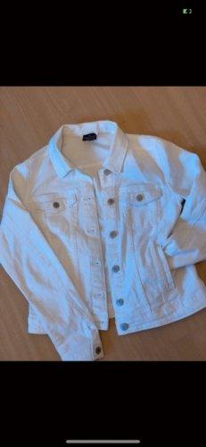 Weiße Jeansjacke in Größe 40