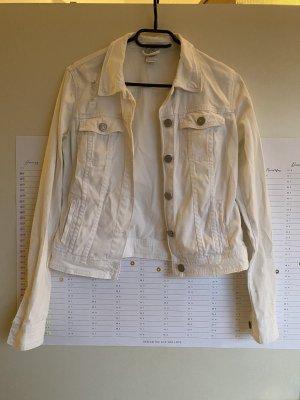 Bershka Denim Jacket white