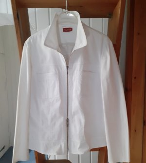 Taifun Marynarka jeansowa biały Tkanina z mieszanych włókien