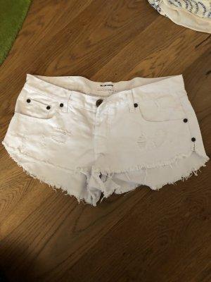 One x Oneteaspoon Short en jean blanc