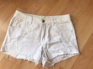 Pieces Short en jean blanc