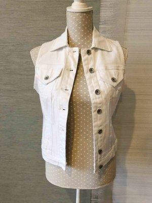 Denim Vest white cotton