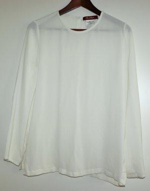 Weisse, kaum getragene Bluse von Max Mara