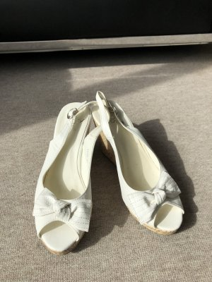 Wedge Sandals white-beige