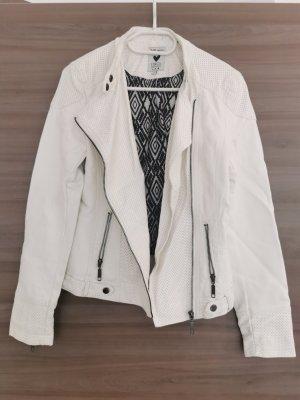 17&co Faux Leather Jacket white-natural white polyurethane