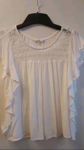 Weiße kurzärmelige Bluse