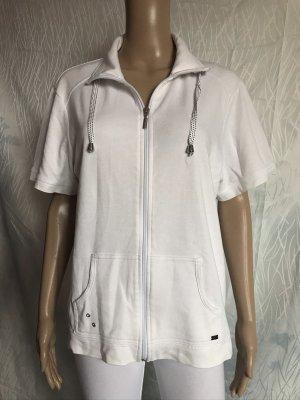 Cardigan à manches courtes blanc coton