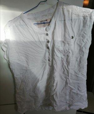 Weiße Kurzarm Bluse Garcia Jeans