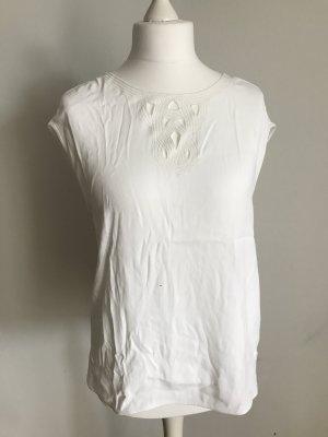 weiße Kurzarm Bluse in 40