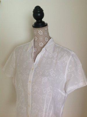 weiße kurzarm Bluse mit Stickerei Marie Lund