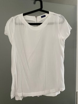 Weiße Kurzarm Bluse/Shirt