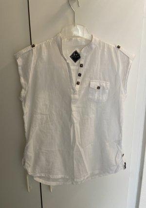 Blanc du Nil Short Sleeved Blouse white-black brown