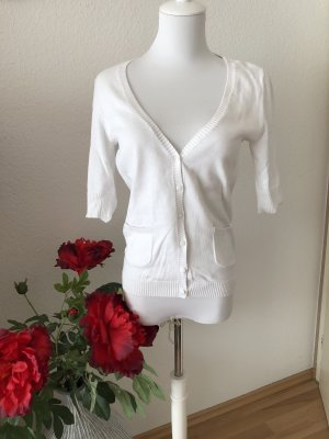 Vintage Cardigan à manches courtes blanc
