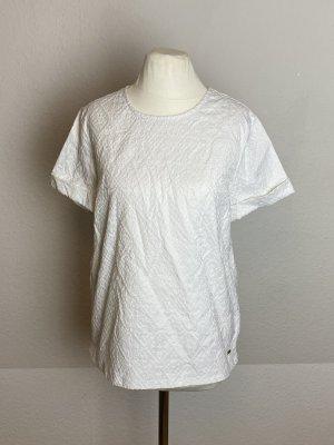Weiße Kurzarmbluse Shirt Top Gr. 8 Gr. M Gr. 38 weiß