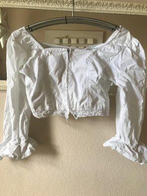 Weiße Kurzbluse von Conleys Größe 44 versandkostenfrei!